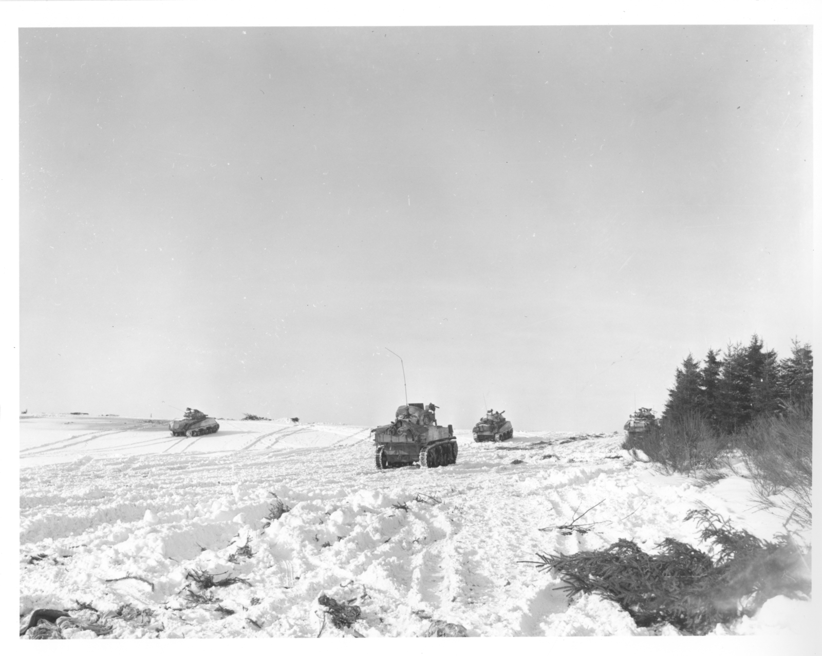 Photograph of Tanks of the 4th Armored Division