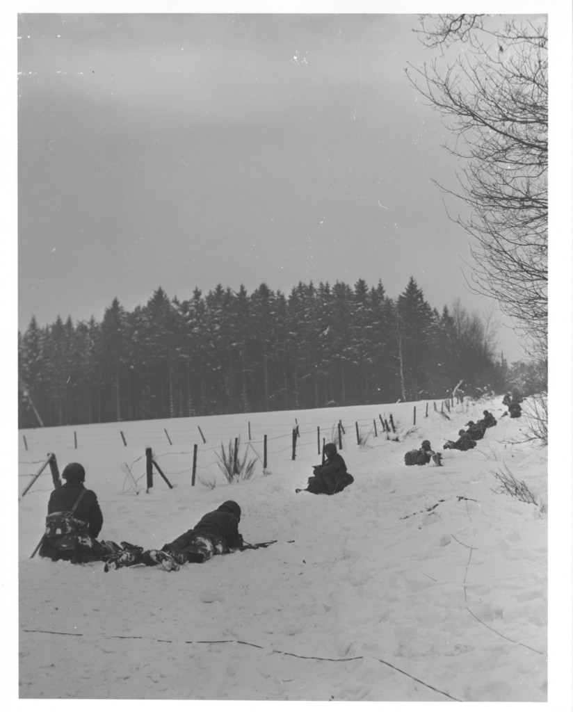 Photographs of Members of the 30th Infantry Division Near Pont, Belgium