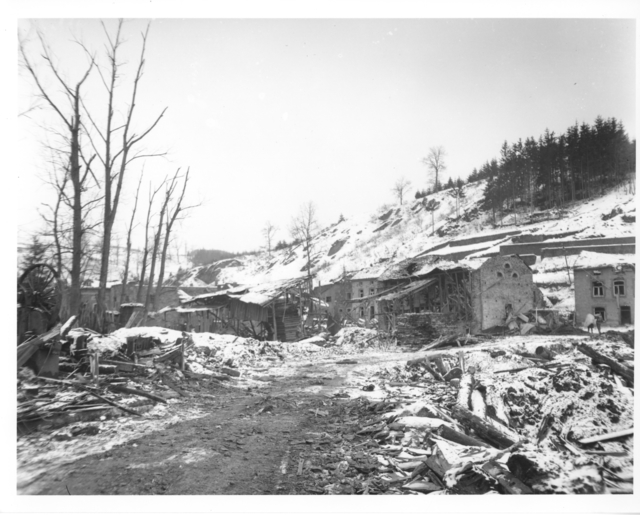 Photograph of Damage Done in Houffalize, Belgium