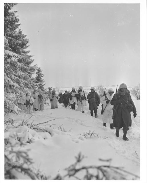 Photograph of American Infantrymen Near Iveldingen, Belgium