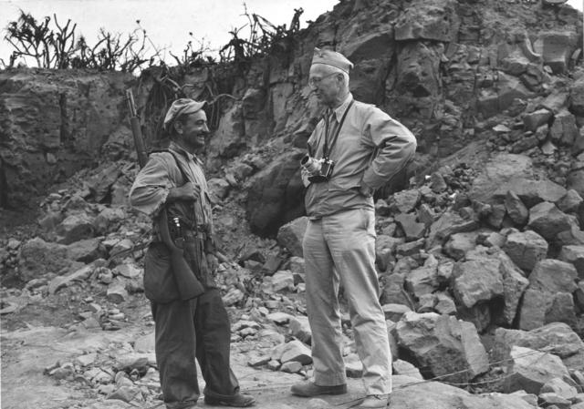 Navy Photographer Captain Ed. J. Steichen on Iwo Jima