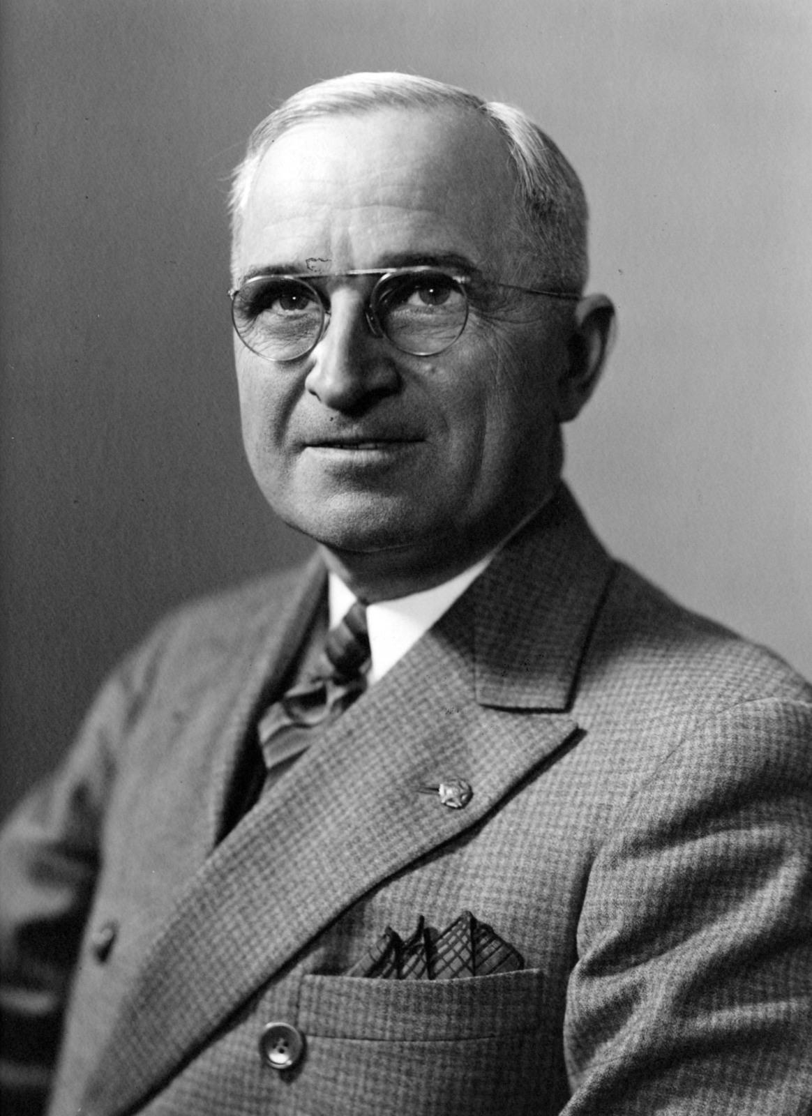 Head and Shoulders Portrait of Harry S. Truman