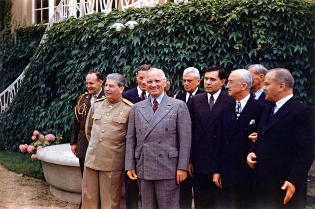 President Harry S. Truman and Joseph Stalin at Potsdam