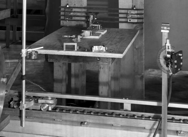 184-inch cyclotron, calutron conversion, Lofgren's measuring tools. Photo taken 10/20/1945. Principal Investigator/Project: Analog Conversion Project