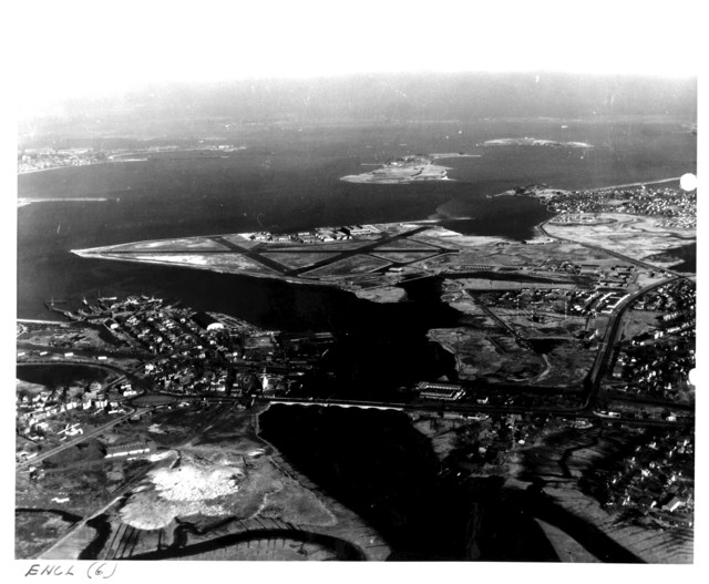 Aerial View of the Naval Air Station at Squantum, Massachusetts and the Surrounding Area
