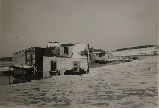 Damage to House near Higgins Beach in Scarboro, Maine after November 1945 Storm
