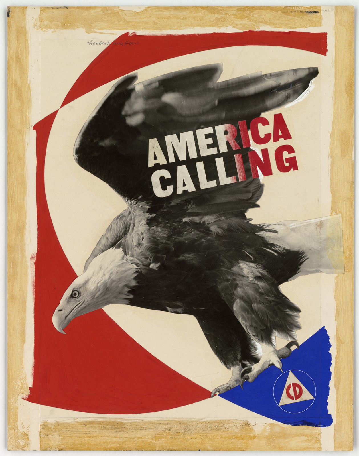 America Calling.  CD [Civil Defense] -  (Not used.) [Herbert Matter]