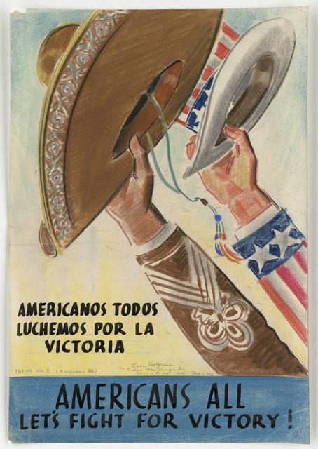Americanos Todas Luchemos Por La Victorica.  Americans All.  Let's Fight For Victory! Theme No. 3 (Americans All)