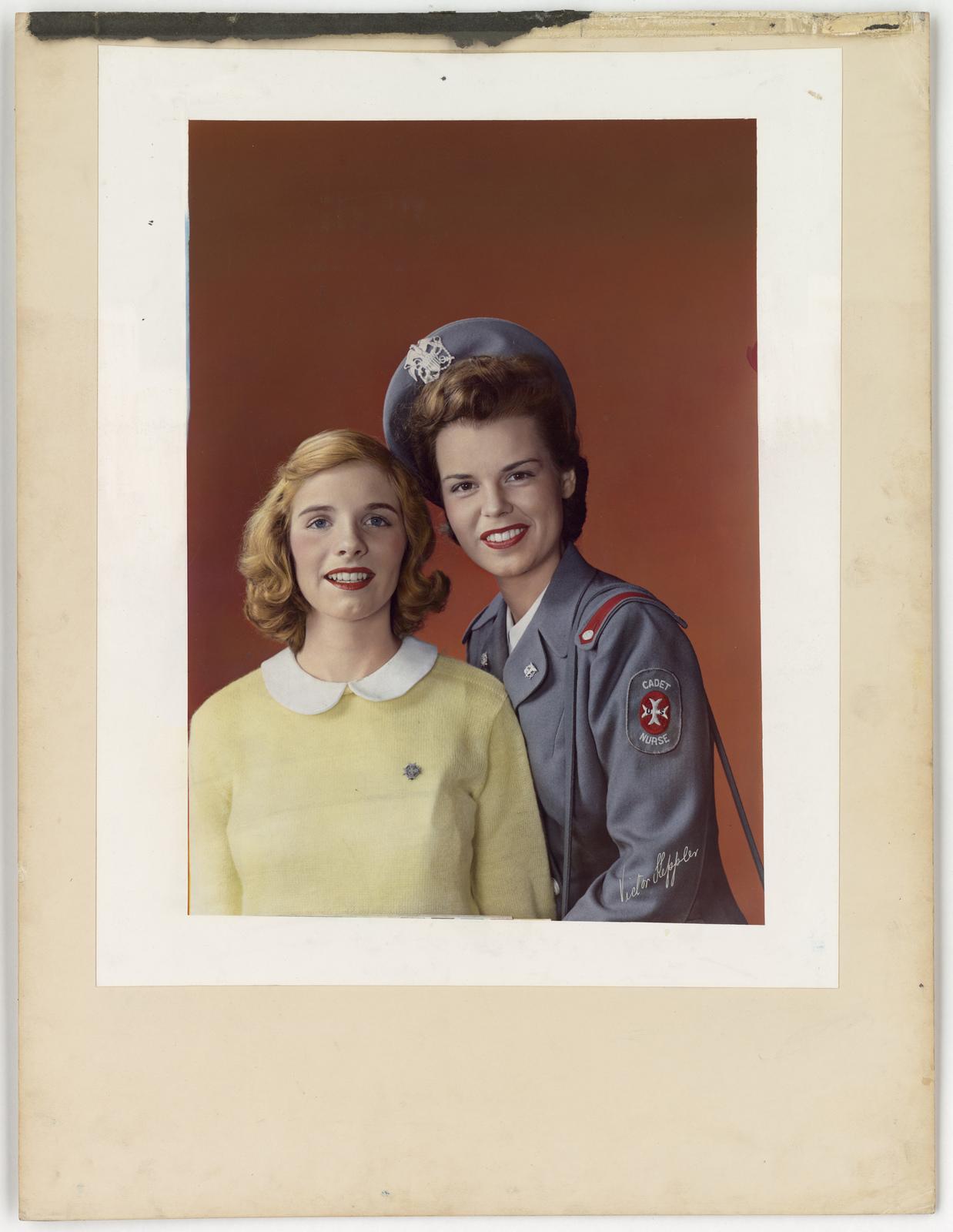 [Cadet Nurse with high school girl] [Victor Keppler]