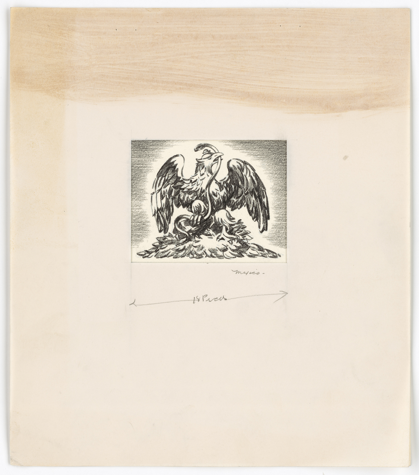 [Eagle holding serpent (coat of arms)] Mexico