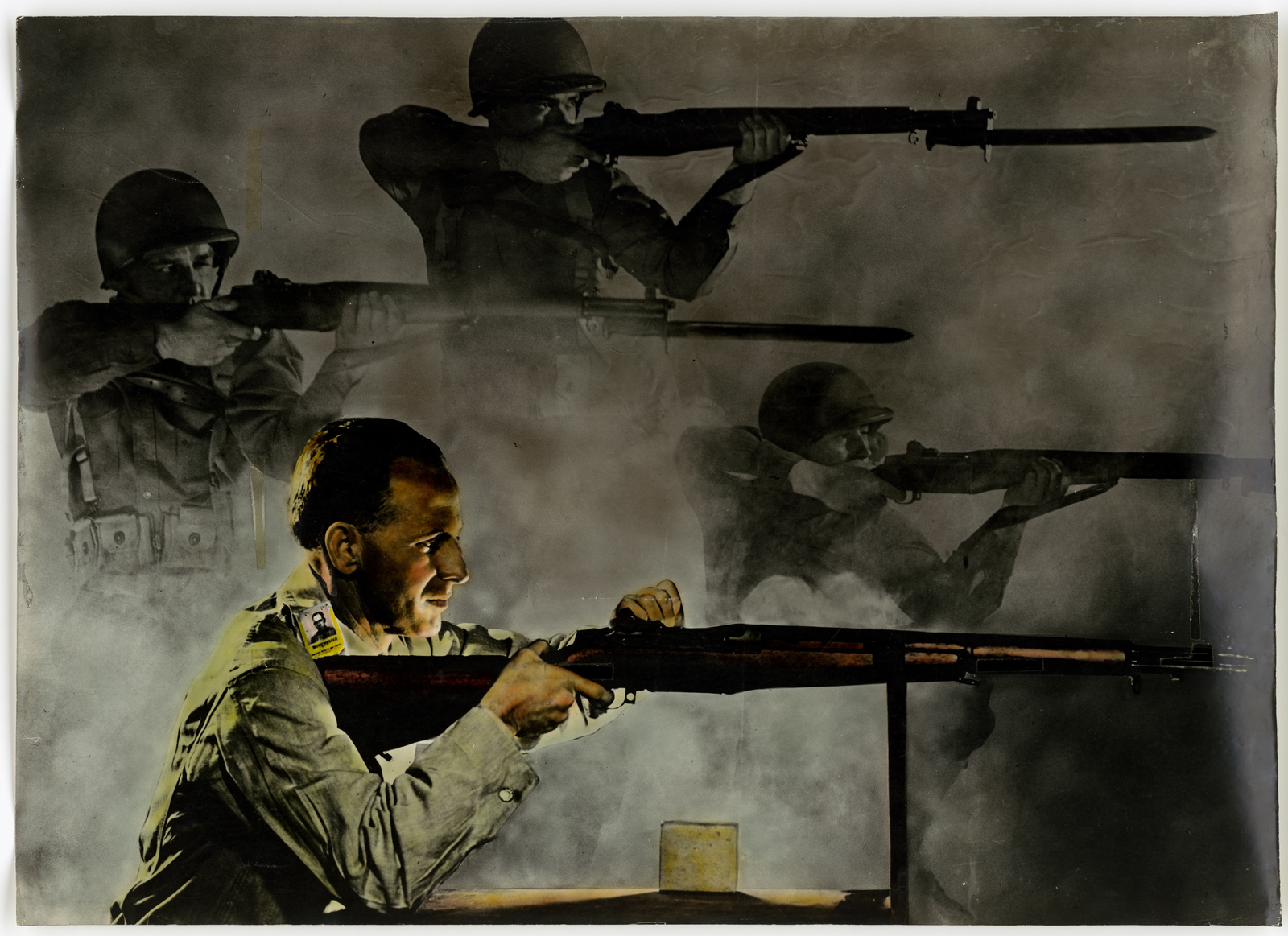 [Factory worker testing a rifle] Battle Begins With Your Job. Do It Right.