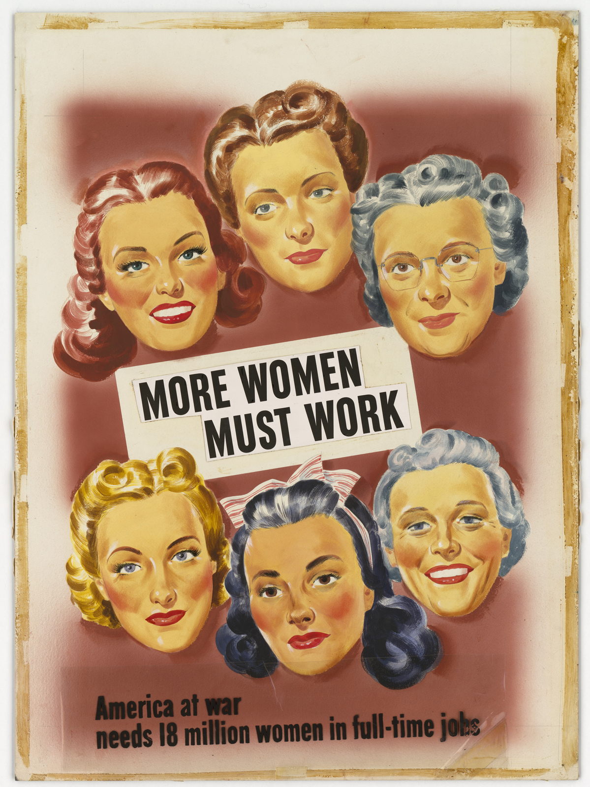 More Women Must Work  (Information on cover sheet: America at war needs 18 million women in full-time jobs.)