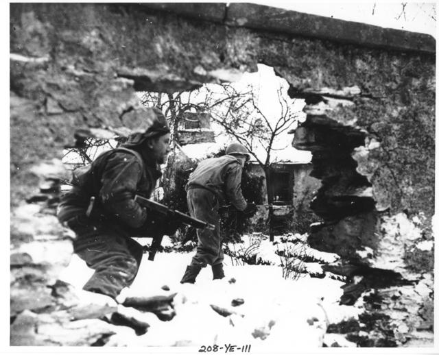 Photograph of American Troops in Wiltz, Belgium