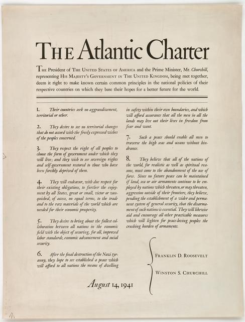 THE ATLANTIC CHARTER.