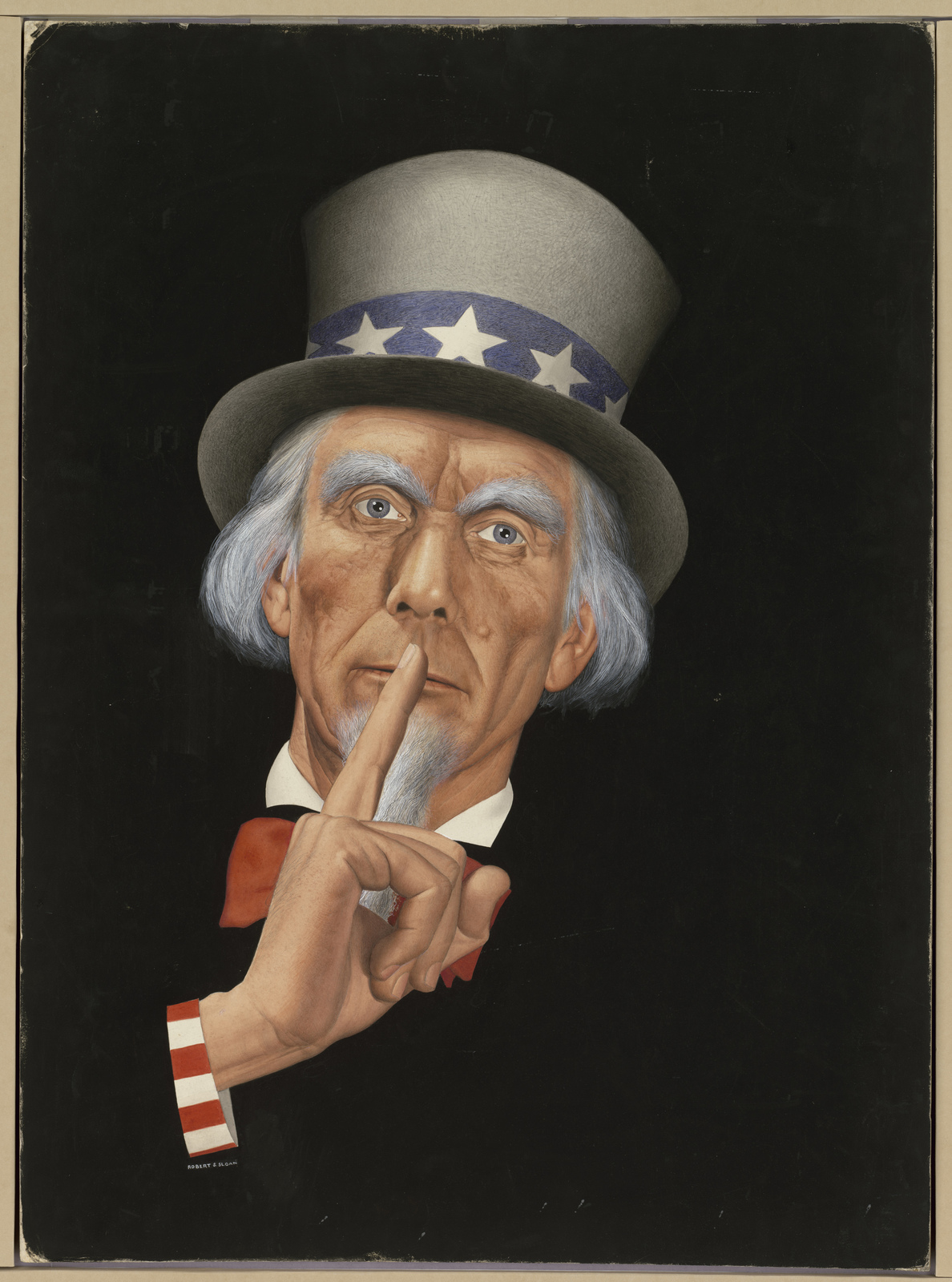 Uncle Sam  (Information on the back: Pd for. Not used. Rejected.) [Robert S. Sloan]