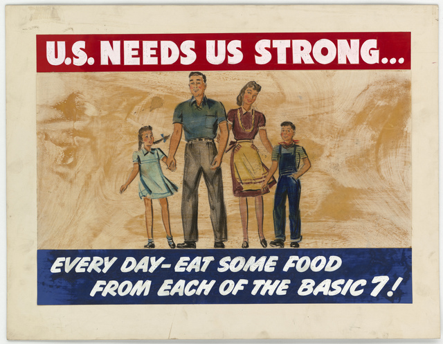 U.S. Needs Us Strong... Every Day-Eat Some Food From Each of the Basic 7!
