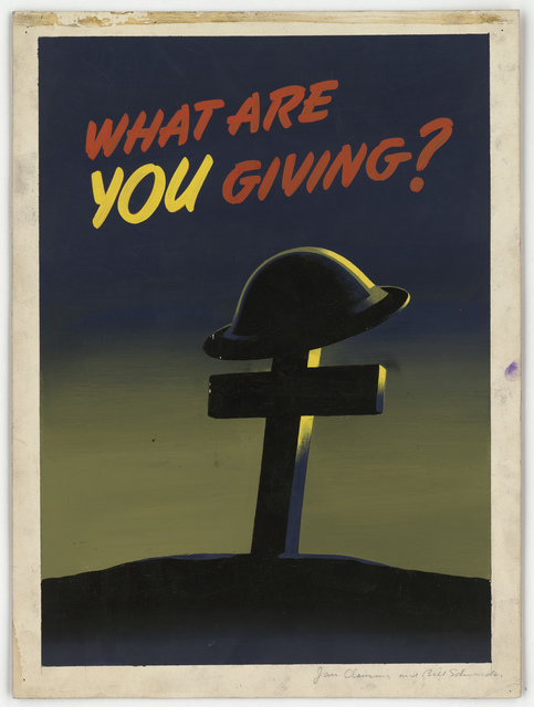 "What are you giving? [""Idea paid for OFF""] [Jan Clausing and Bill Schmander]"
