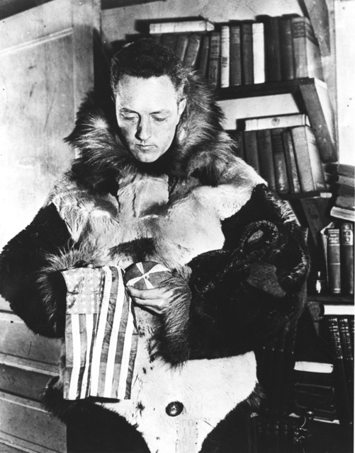 Photograph of Admiral Richard Byrd Preparing for His Fourth Antarctic Expedition, Operation Highjump, in 1946