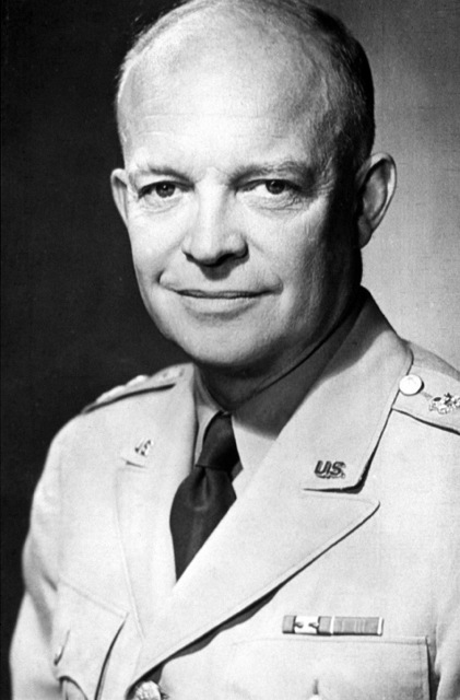 Portrait: General of the Army Dwight D. Eisenhower. (Uncovered). (Exact date shot UNKNOWN)