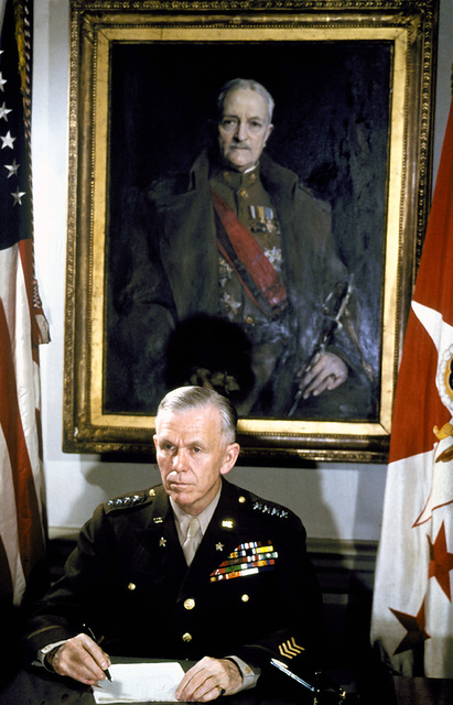 Portrait: US Army (USA) General (GEN) George C. Marshall. (Uncovered), (Exact date shot UNKNOWN)