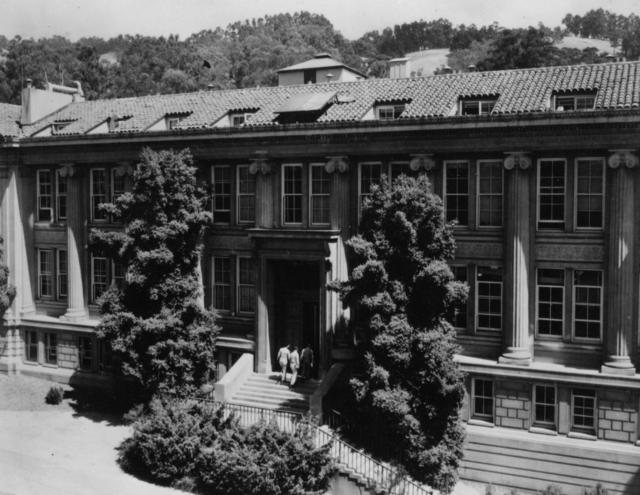 Gilman Hall, University of California, Berkeley. Photo taken April 1, 1946.  Principal Investigator/Project: Analog Conversion Project