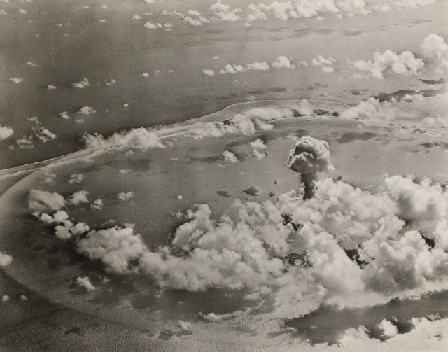 Aerial View of the Able Day Explosion over Bikini Lagoon