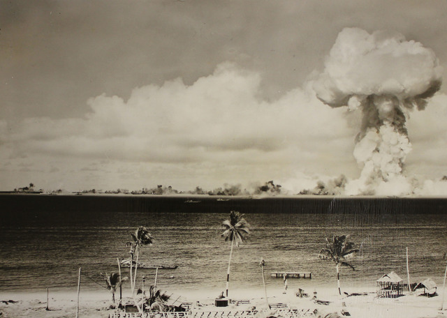 Atomic Shock Wave from the Able Day Explosion over Bikini Lagoon