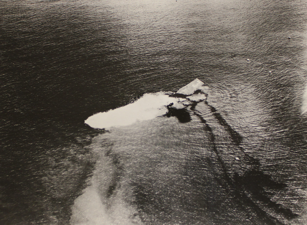 Sinking of the USS Saratoga after the Baker Day Explosion over Bikini Lagoon