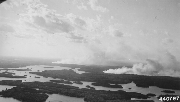 Photograph of Canadian Fires Adjacent to LaCroix Ranger District