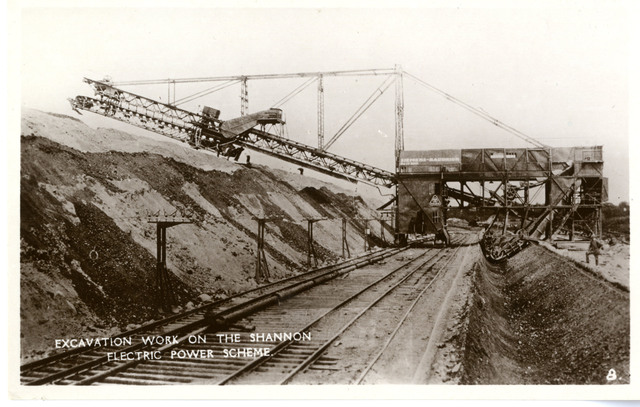 Excavation Work on the Shannon Electric Power Scheme