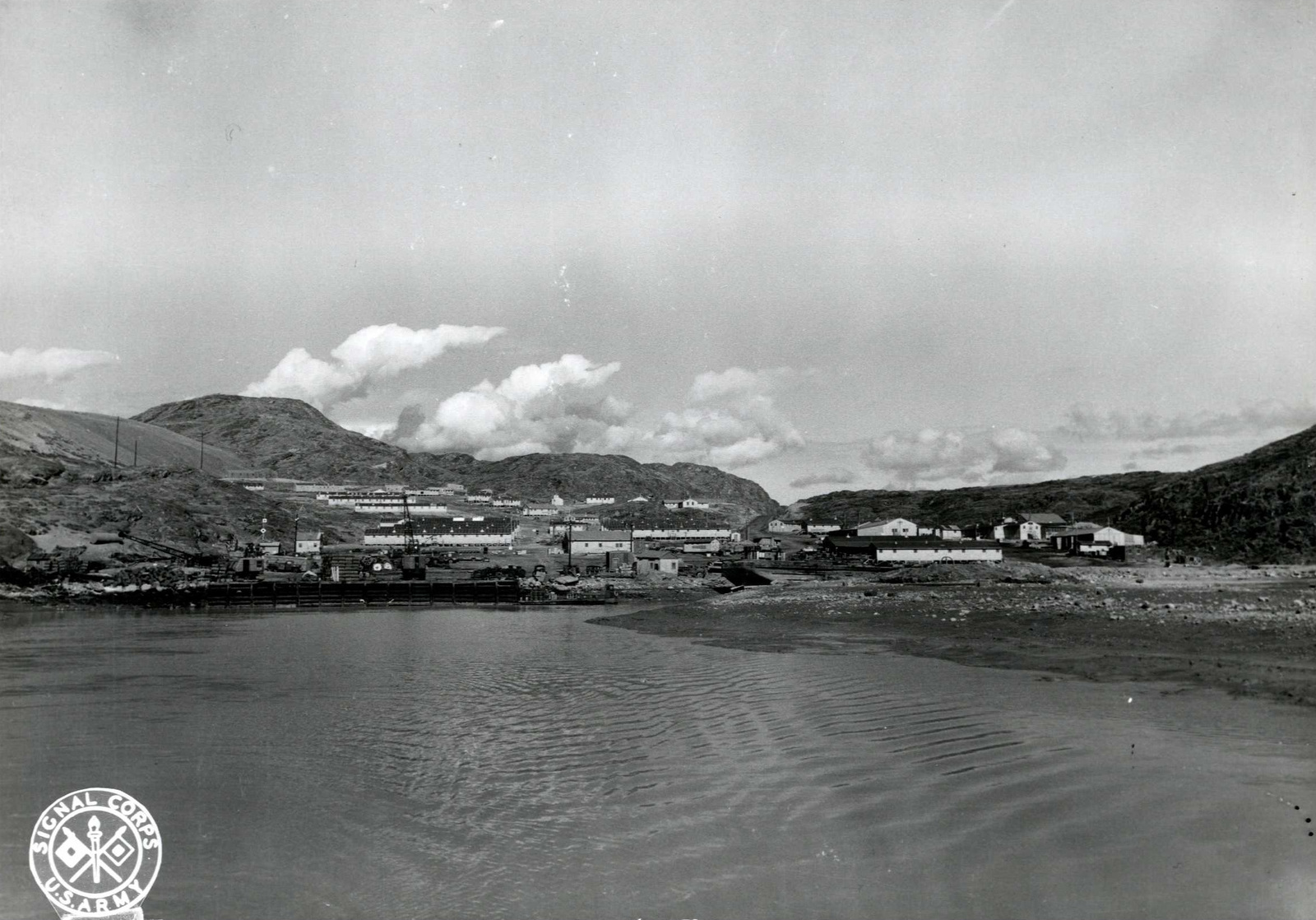Port Area, Showing Dock for Barges in Greenland