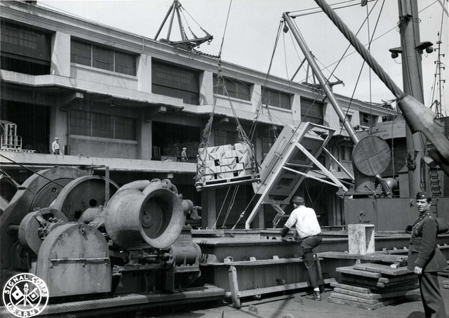 Supplies Picked up by Ship's Gear, Boston