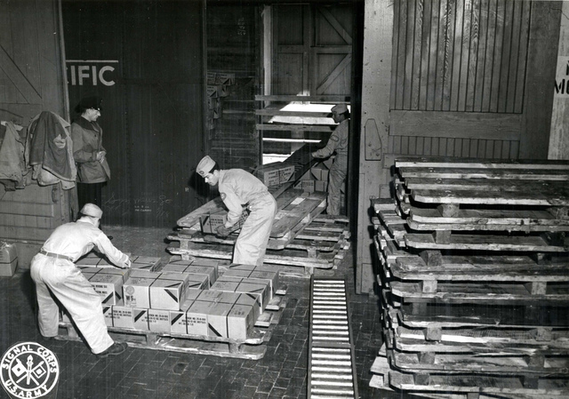 Supplies Received at Port of Embarkation by Rail, Boston