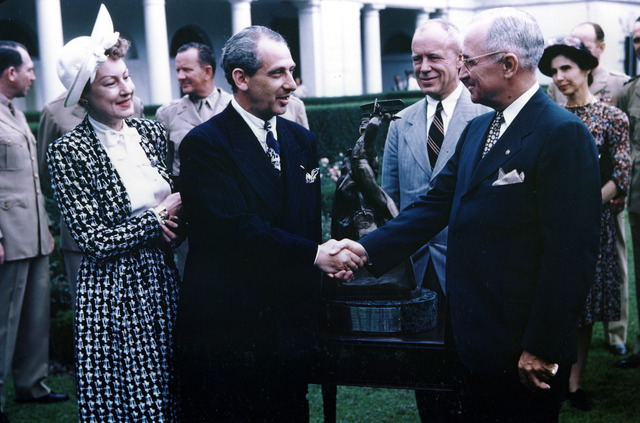 President Harry S. Truman Presents Award to Alexander De Seversky