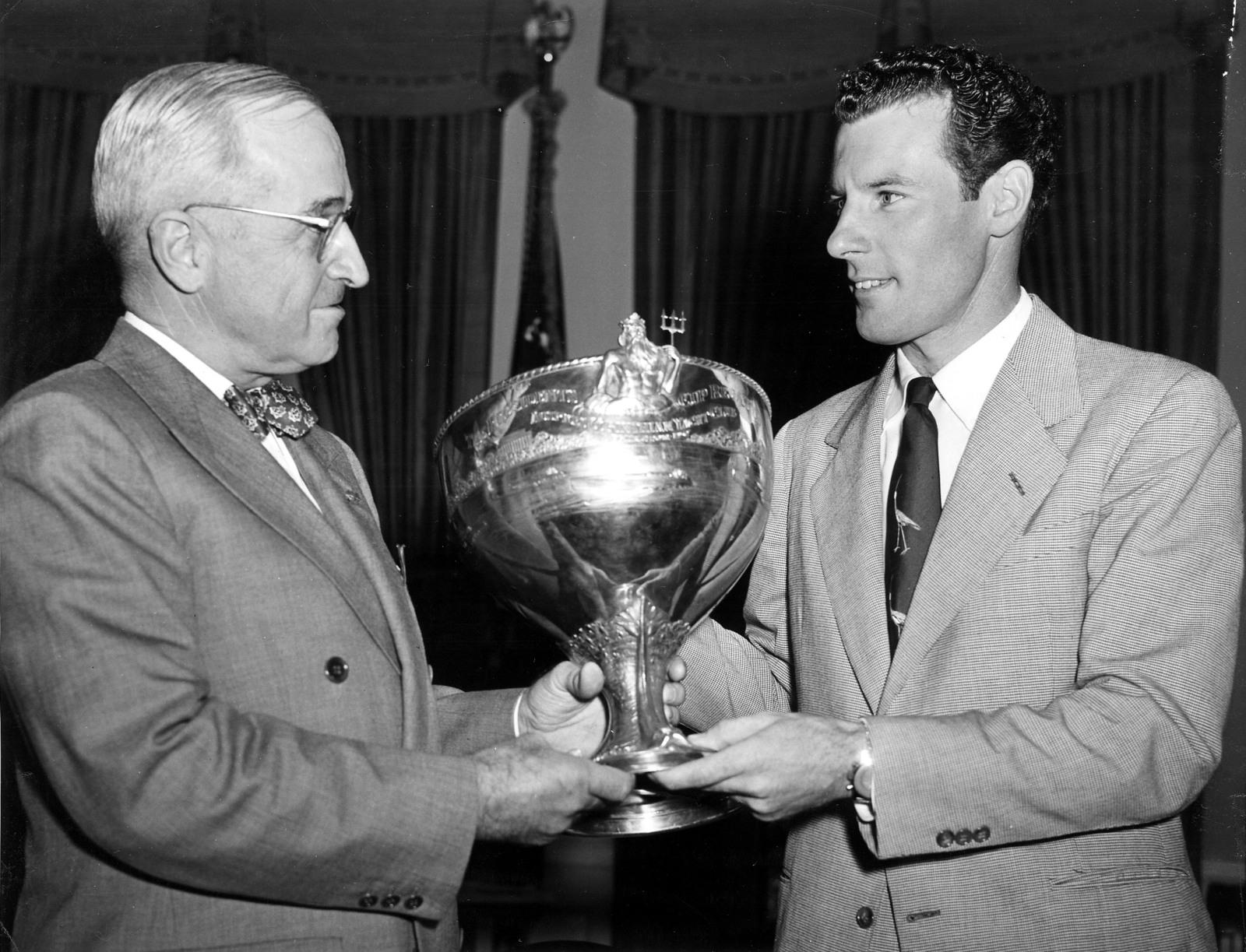 President Harry S. Truman Presents a Trophy