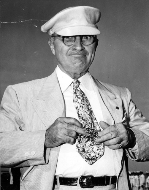 President Harry S. Truman with a Submarine Tie Clasp