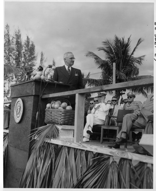 President Harry S. Truman at Everglades National Park Dedication