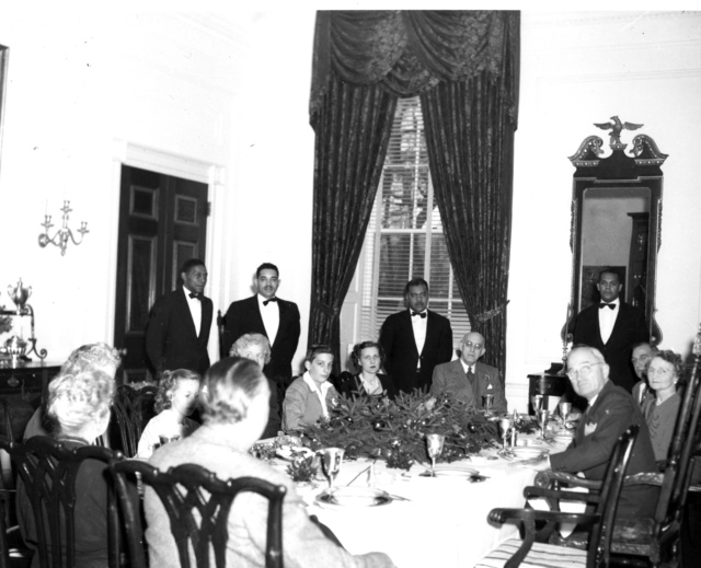 Truman and Wallace Families at the White House for Christmas Dinner