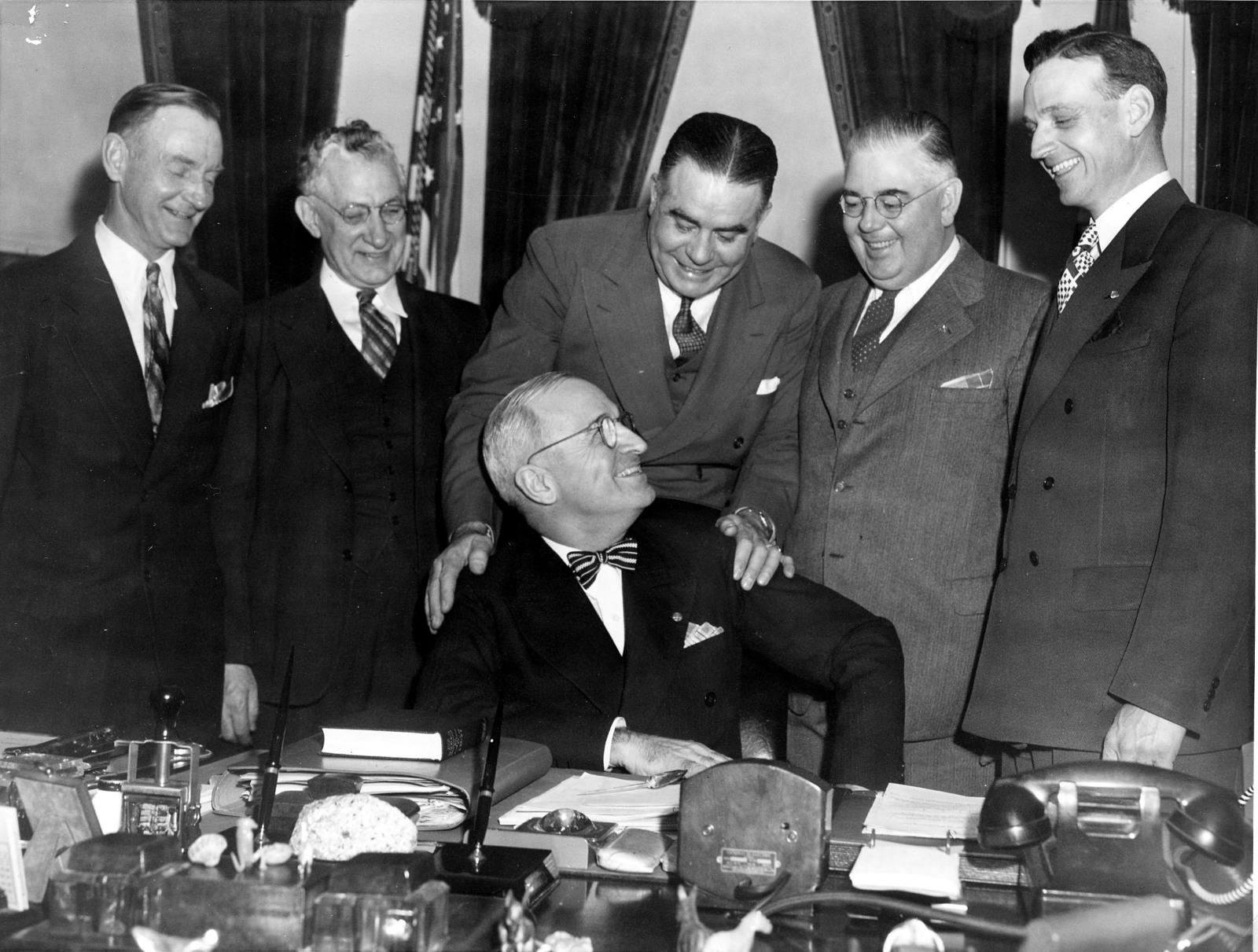 President Harry S. Truman in his Office