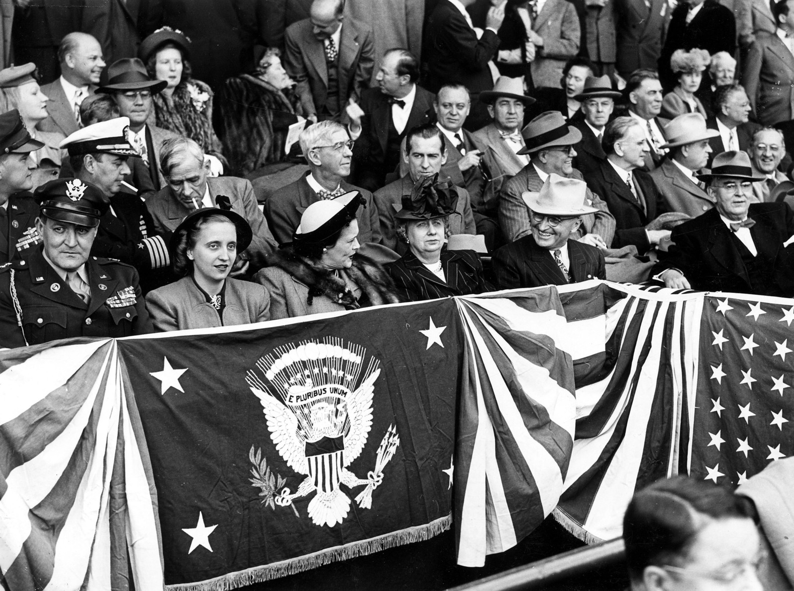 Photograph of President Harry S. Truman at Opening Baseball Game