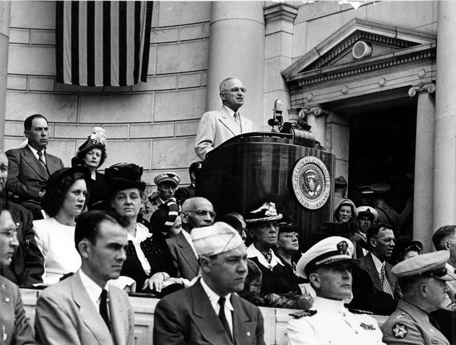 President Harry S. Truman Speaking at Memorial Day Services