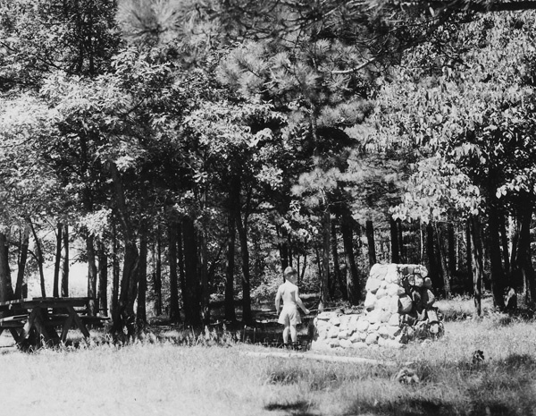 Photograph of Allen Dolgaard at Six Mile Camp Ground