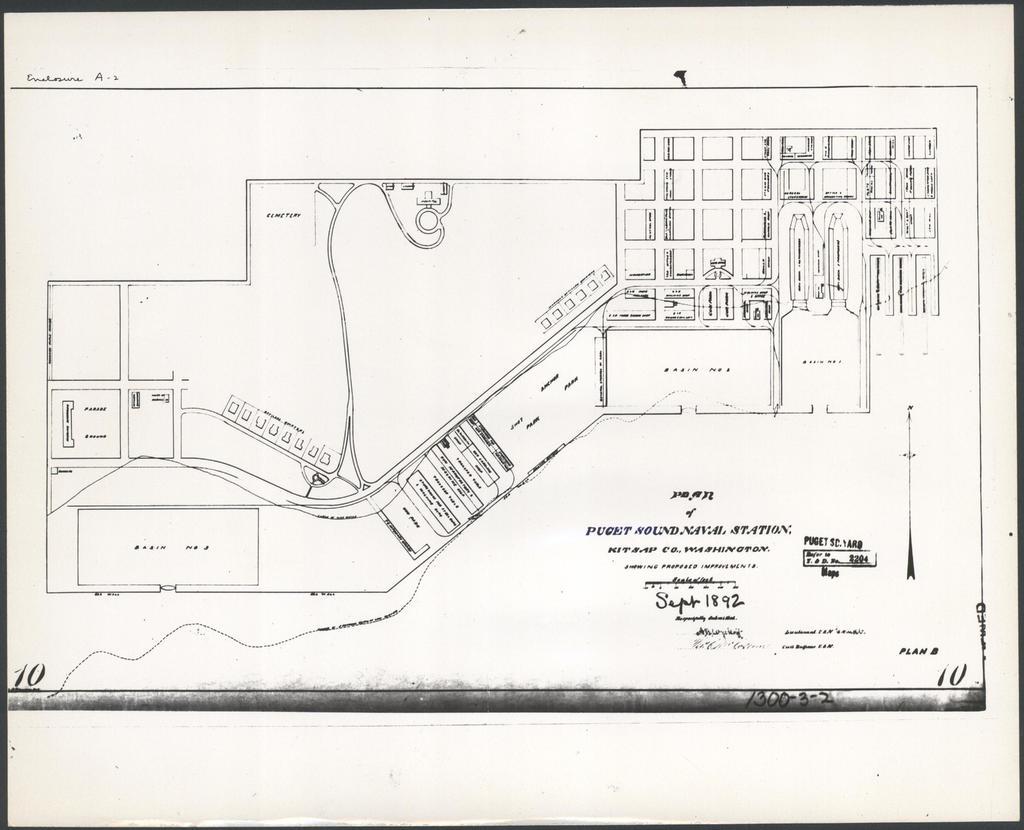 Plan of Puget Sound Navy Yard