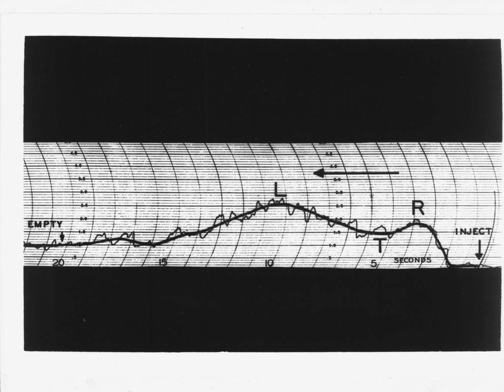 "60-inch cyclotron. Smoked drum record. Photo taken 4/29/1949. 60""-222 Principal Investigator/Project: Crocker Lab/60-inch"