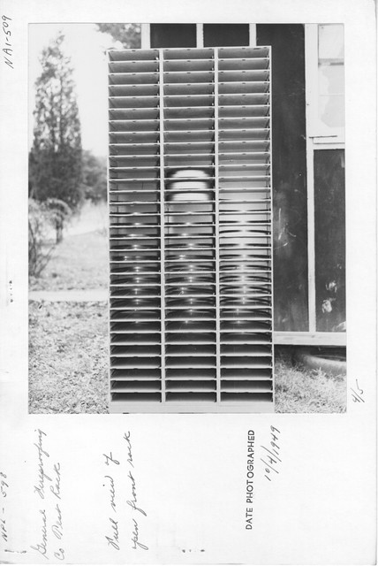 Photograph of General Fireproofing Company's Test Rack, Full View of Open Front Rack