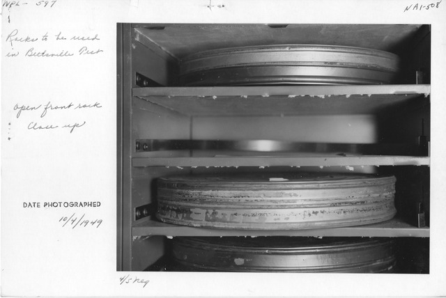 Photograph of Racks to be Used in Beltsville Test, Open Front Rack Close up