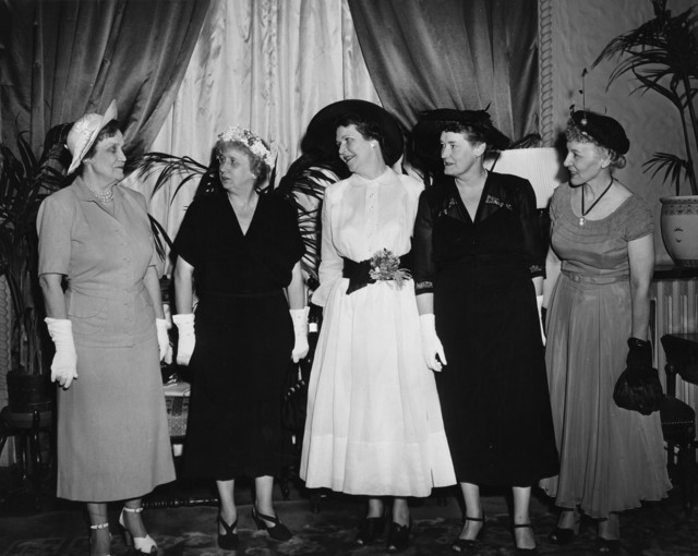 Photograph of Mrs. Bess W. Truman with Democratic Women