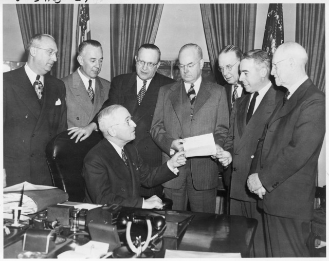 President Harry S. Truman Meets with Home Owner's Loan Corproration