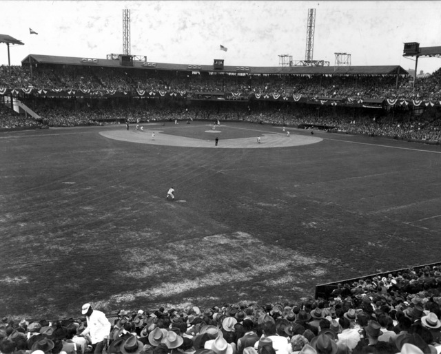 Photograph of Opening Day at Griffith Stadium in Washington, DC