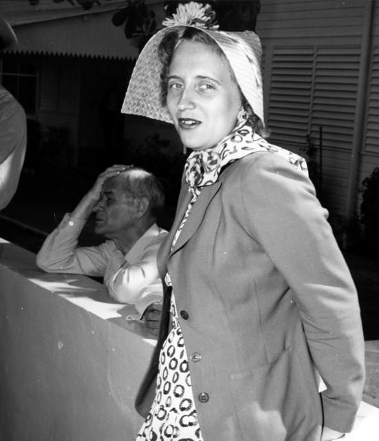 Margaret Truman Models Her Easter Bonnet